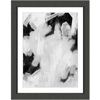 "Vintage Print Gallery ""Black and white abstract II"" Framed Archival Paper Wall Art (24x28 in full size), Black - Home Depot"