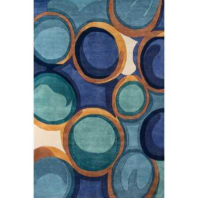 New Wave Hand-Tufted Blue Area Rug - Wayfair