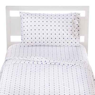 Star Microfiber Sheet Set (Twin) White - Pillowfort, Multicolored - Target