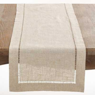 Kitt Hemstitched Table Runner - Birch Lane
