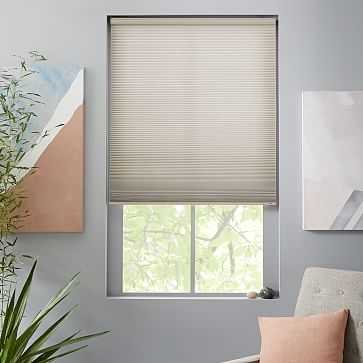 """Bali Cellular Shade, Small, Canyon Gray, 32""""x66"""", Light Filtering - West Elm"""