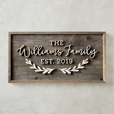 Personalized Family Name Sign, Large - Williams Sonoma