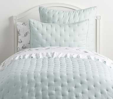 Amelia Tencel Quilt, Full/queen, Porcelain Blue - Pottery Barn Kids
