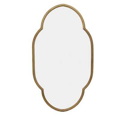 Irregular Shaped Gold Mirror - Home Depot