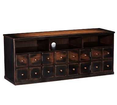 Andover Media Console, Weathered Walnut stain - Pottery Barn