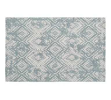 Zahara Synthetic Rug, Blue, 5 x 8' - Pottery Barn