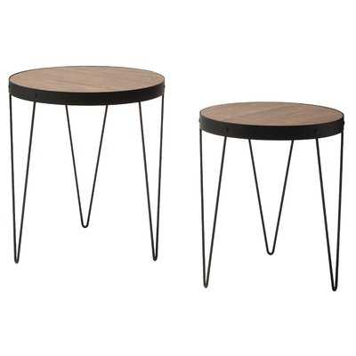 Courtland 2 Piece Nesting Tables - Wayfair