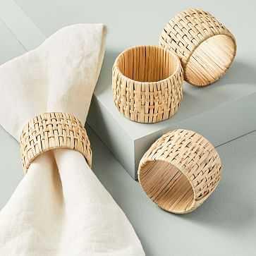 Rattan Napkin Rings, Set of 4 - West Elm