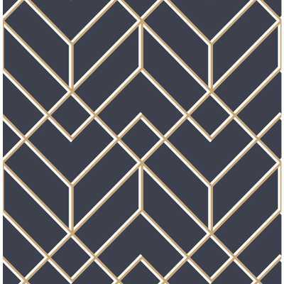 Superfresco Easy Kabuki Losanges Filaires Navy Removable Wallpaper, Blue - Home Depot