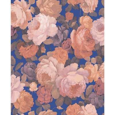 Sirpi Lady Pink Floral Wallpaper - Home Depot