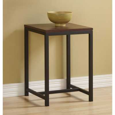 Foster Brown and Black End Table, Brown/Black - Home Depot