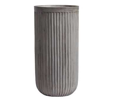 Concrete Fluted Planter, Tall - Pottery Barn