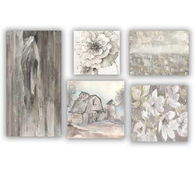 Designart 'Farmhouse Collection ' Traditional Wall Art set of 5 pieces - Wayfair
