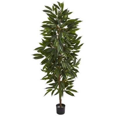 Nearly Natural Indoor 6.5 ft. Mango Artificial Tree - Home Depot