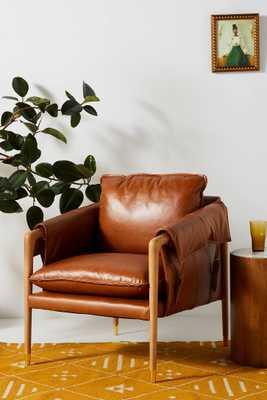 Havana Leather Chair - Anthropologie
