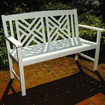Katia Wooden Garden Bench - Birch Lane