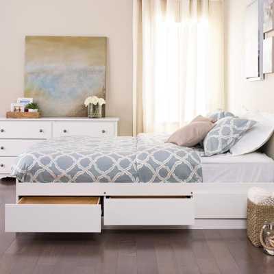 Monterey Twin Wood Kids Storage Bed, White - Home Depot