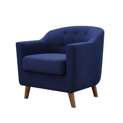 Belka Tufted Upholstered Accent Chair Dressy Blue - miBasics, Royal Blue - Target