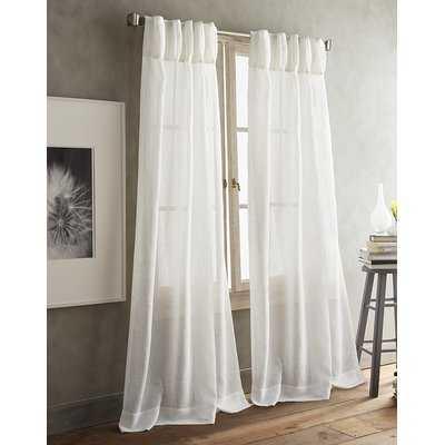 Paradox Pencil Pleat Solid Color Sheer Curtain Panels - AllModern