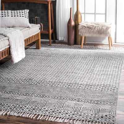 Lindy Hand-Woven Gray Area Rug - AllModern