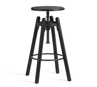 Duval Adjustable Stool, Painted Black - Pottery Barn