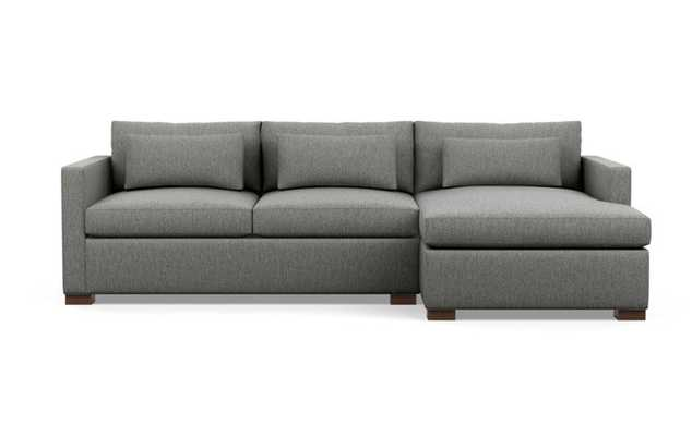 Charly Sectionals with Plow Fabric and Oiled Walnut legs - Interior Define