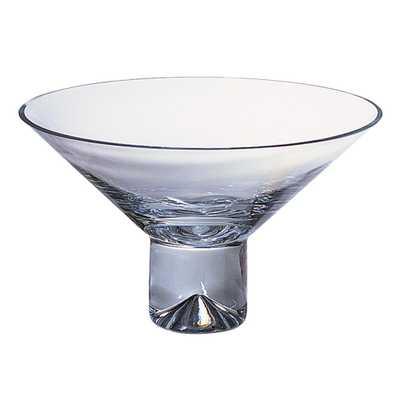 Clear 12 in. Monaco European Mouth Blown Crystal Pedestal Bowl - Home Depot