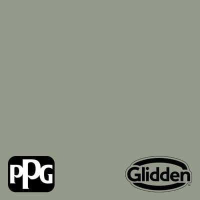 PPG TIMELESS 8 oz. Green Tea Leaf PPG1128-5 Satin Interior/Exterior Paint Sample - Home Depot