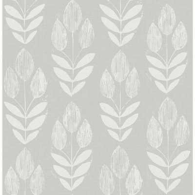 56.4 sq. ft. Garland Dove Block Tulip Wallpaper - Home Depot