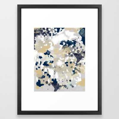 Nigel - Abstract art painting brushstrokes free spirt dorm college masculine feminine art print cali Framed Art Print by Charlottewinter - Society6