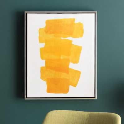 Gunther Framed Painting Print on Canvas in Yellow - AllModern