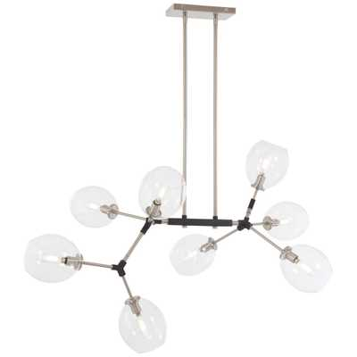 George Kovacs Nexpo 8-Light Brushed Nickel Chandelier with Clear Glass Shade - Home Depot