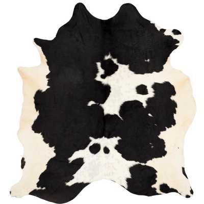 Cow Hide Black/White 6 ft. x 7 ft. Area Rug - Home Depot
