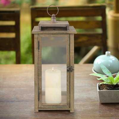 Rustic Wood Lantern - Birch Lane