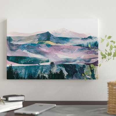 Pink Range by Dan Hobday - Wrapped Canvas Graphic Art Print - AllModern