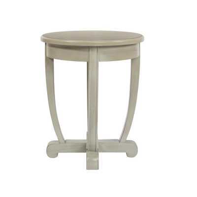 OSP Home Furnishings Tifton Grey Round Accent Table, Gray Wood Finish - Home Depot