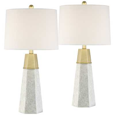 Julie Tapered Column Table Lamps Set of 2 - Style # 63R09 - Lamps Plus