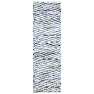 St Croix Trading Company Striped Blue Jeans & Cotton 2 ft. 6 in. x 12 ft. Runner - Home Depot