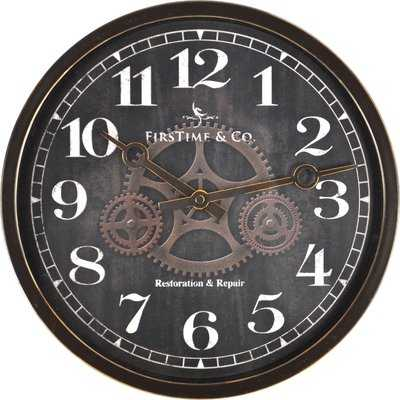 "12"" Industrial Gears Wall Clock - Wayfair"