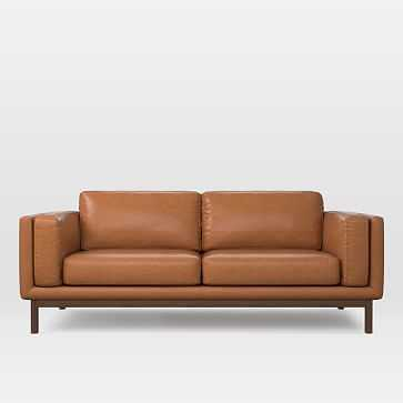"Dekalb 85"" Sofa, Leather, Saddle - West Elm"