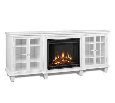 Real Flame(R) Marlowe Electric Fireplace Media Cabinet, White - Pottery Barn