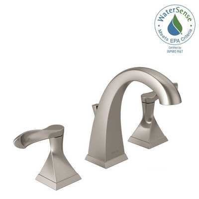 Delta Everly 8 in. Widespread 2-Handle Bathroom Faucet in SpotShield Brushed Nickel - Home Depot