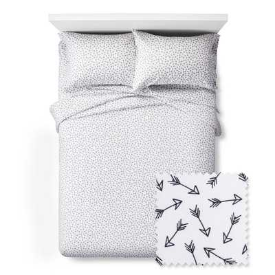 Arrows Sheet Set - Twin - 3 pc - Black&White - Pillowfort, Black - Target