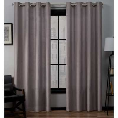 Exclusive Home Curtains Loha 54 in. W x 96 in. L Linen Grommet Top Curtain Panel in Dusty Lavender (2-Panel) - Home Depot
