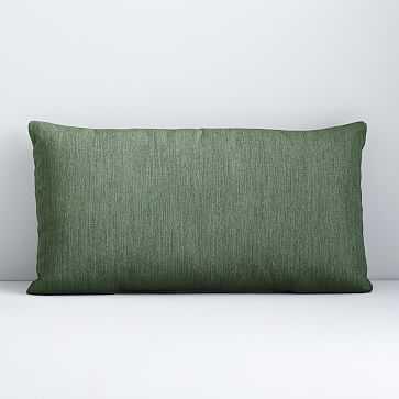 "Sunbrella Indoor/Outdoor Canvas Lumbar Pillow, Fern, 12""x21"" - West Elm"