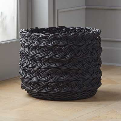 Black Braided Basket - CB2