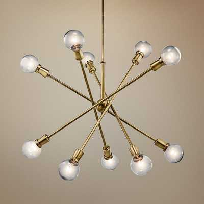 "Kichler Armstrong 47"" Wide Natural Brass Sputnik Chandelier - Style # 1T268 - Lamps Plus"