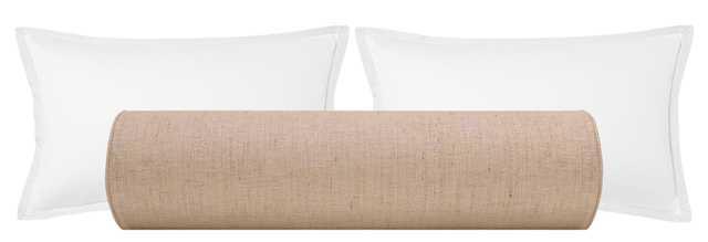 """The Bolster :: Metallic Linen // Rose Gold - QUEEN // 9"""" X 36"""" - Little Design Company"""