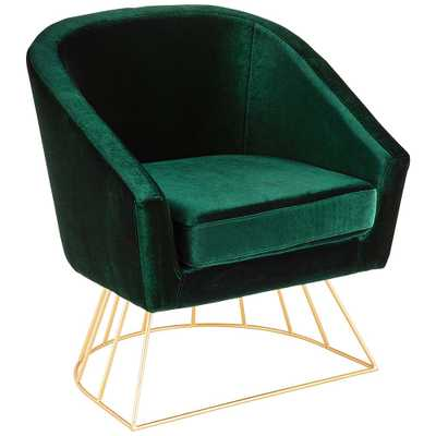 Canary Emerald Green Velvet Accent Chair - Style # 60G29 - Lamps Plus