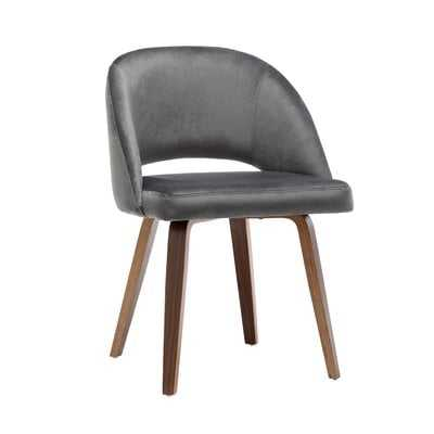 Wrought Studio Ohan Fabric Dining Chairs, Velvet Upholstery And Sturdy Wooden Legs - Wayfair